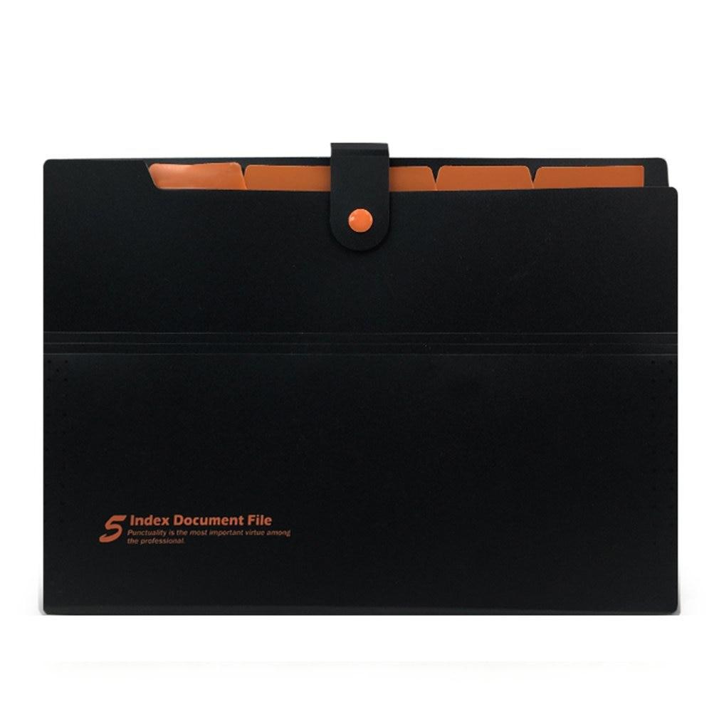 Deli 5pcs File Folder Organ Bag A4 Organizer Paper Holder A4 Size Document Folder Office School Supplies(Random Color)