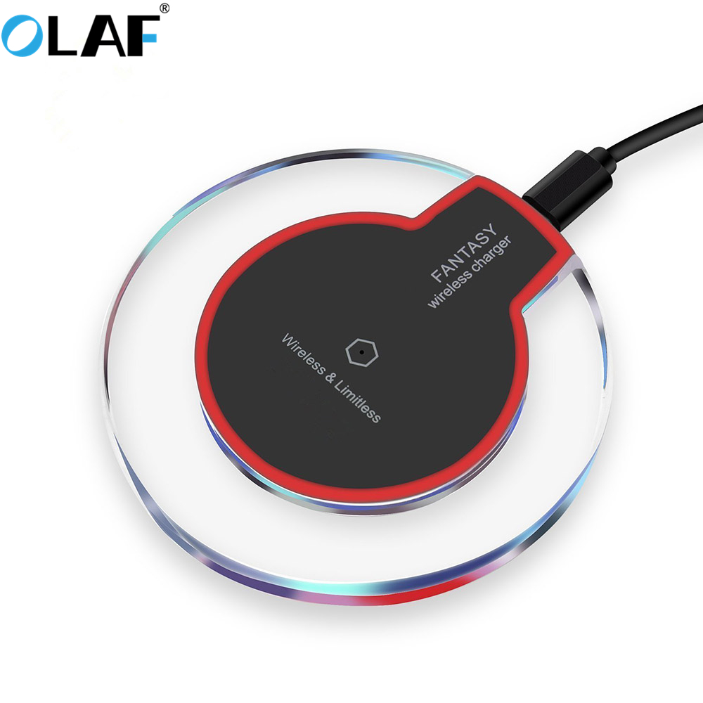 Wireless-Charger Receiver Charging-Adapter S9 iPhone 11 For Samsung LED Ultra-Thin Qi title=