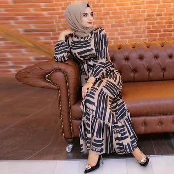 Eid Mubarek Muslim Fashion Dubai Abaya Turkey Hijab Summer Dress Kaftan Caftan Islam Clothing For