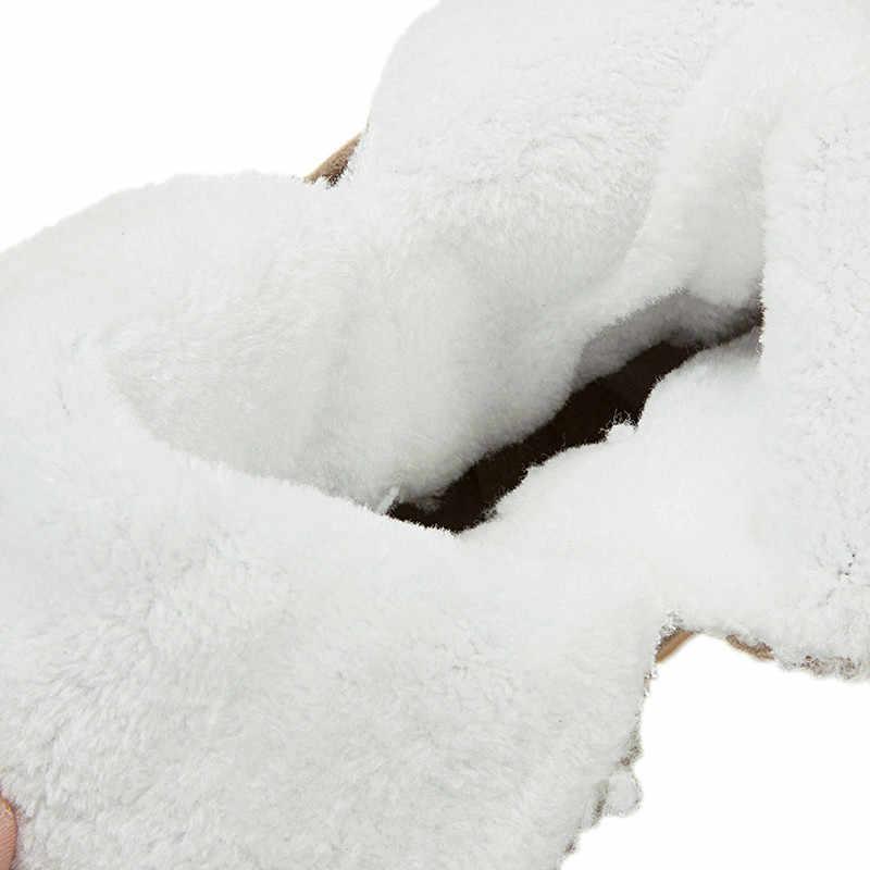 ASUMER büyük boy 34-43 moda yarım çizmeler yuvarlak ayak kayma kadın kışlık botlar akın rahat sıcak tutmak kar botlar 2020 yeni