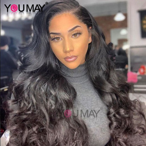 Image 1 - Full Lace Human Hair Wigs Glueless Full Lace Wig Pre Plucked With Baby Hair Brazilian Body Wave 150 180 250 Density Remy You May