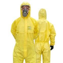 Koruyucu elbise tulum hazmat elbise yeniden kullanılabilir kimyasal koruma tulum iş elbiseleri biyokimyasal koruma giyim
