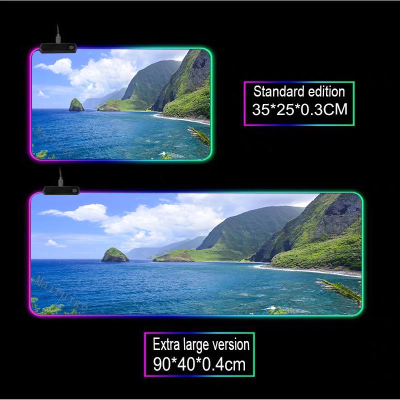 Mairuige морской пейзаж мультфильм игровой плеер большой rgb