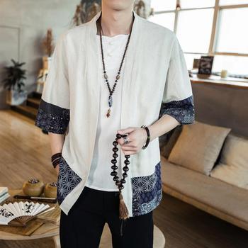 Szata tradycyjna chińska odzież dla mężczyzn kobiety chińska koszulka Top Wushu odzież męska styl Party Tangsuit Vintage Hanfu CN-119 tanie i dobre opinie Linen COTTON Topy Suknem