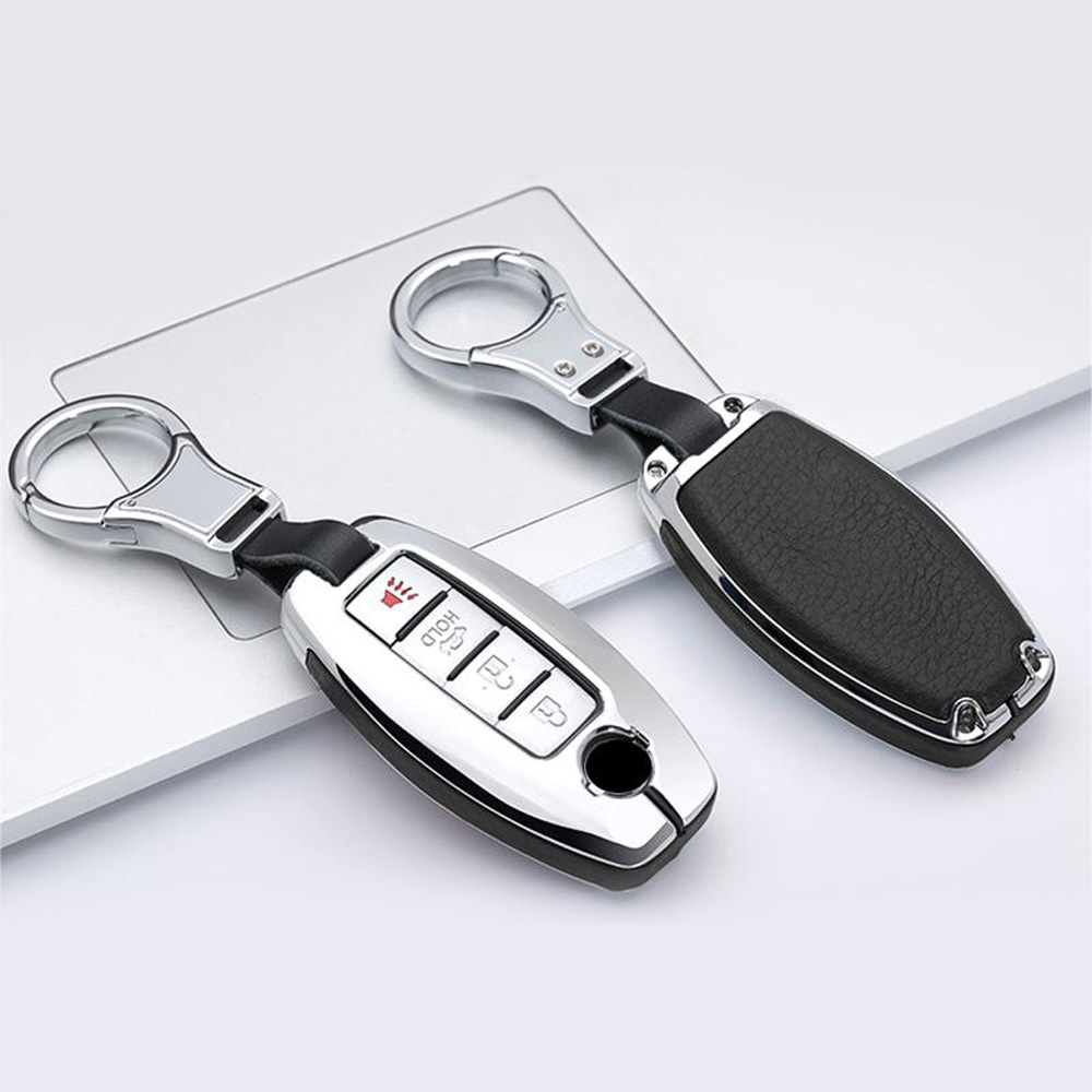 cheapest Protector Car Key case Metal Leather Remote For Infiniti Nissan Anti scratch
