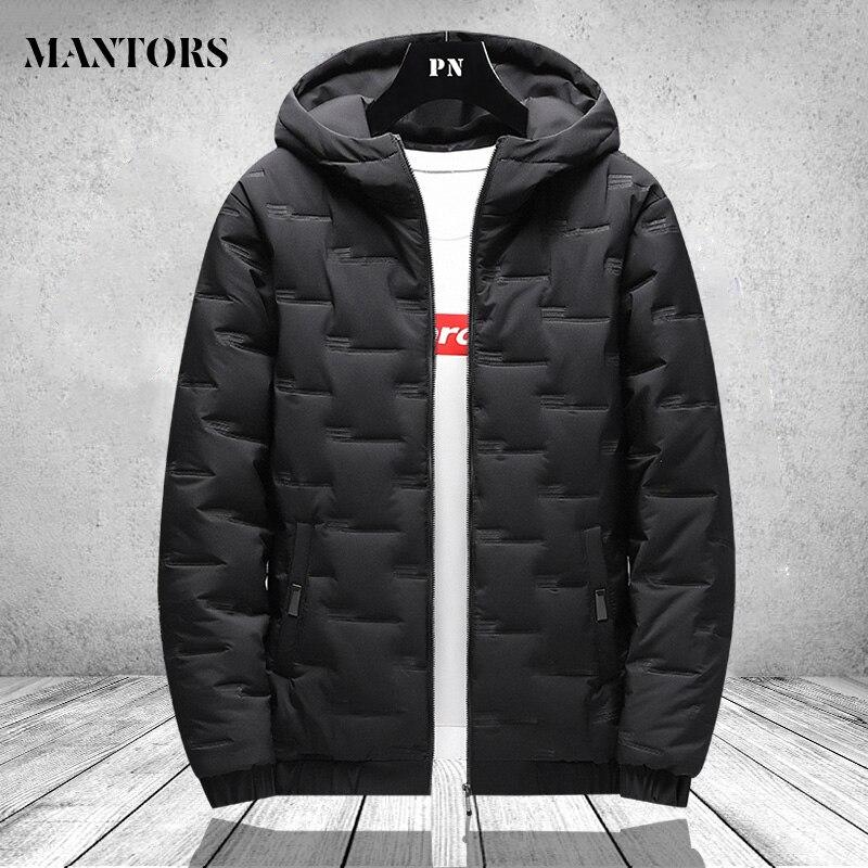 Männer Winter Parkas Mantel 2020 Zipper Tasche Dicke Jacken Männlichen Mode Casual Solide street Oversize jacke tops Dicke Warme 4XL
