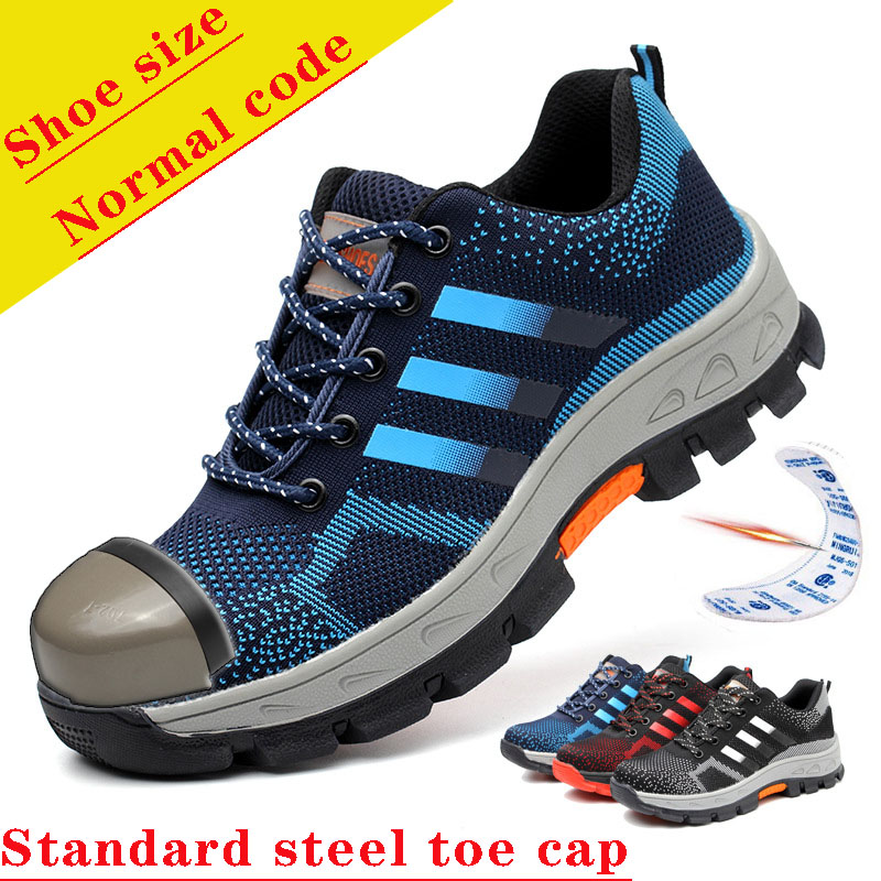 Men's Safety Work Shoes Steel Toe Sneakers Women Lightweight Breathable Indestructible Ryder Shoes Working Boots Outdoor Shoe