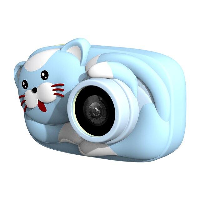 Mini cámara Digital para niños de dibujos animados, cámara de vídeo de 26MP 1080P, cámara de vídeo de 2,4 pulgadas con pantalla IPS, lente de cámara Dual a prueba de golpes para niños