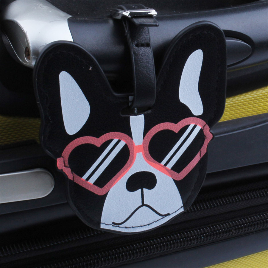 Sales Lovely Dog Suitcase Luggage Tag Bag Pendant Travel Accessories Name ID Address Personalized VIP Invitation Label  LT32B