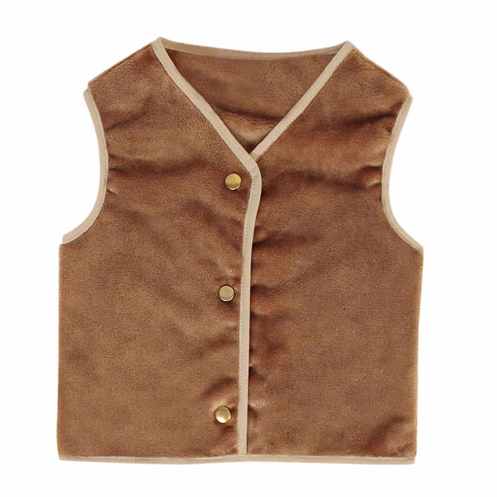 Lông Thú Giả Áo Khoác Dày Áo Khoác Vest Cho Bé Tập Đi Trẻ Em Bé Gái Mùa Đông Ấm Quần Áo Khoác Ngoài Xuống Và Parkas Trẻ Em áo Vest