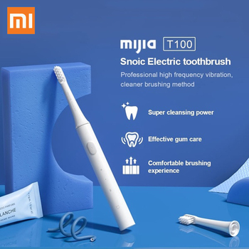 Xiaomi Mijia T100 Sonic Electric Toothbrush Mi Smart Tooth Brush Colorful USB Rechargeable IPX7 Waterproof For Toothbrushes head