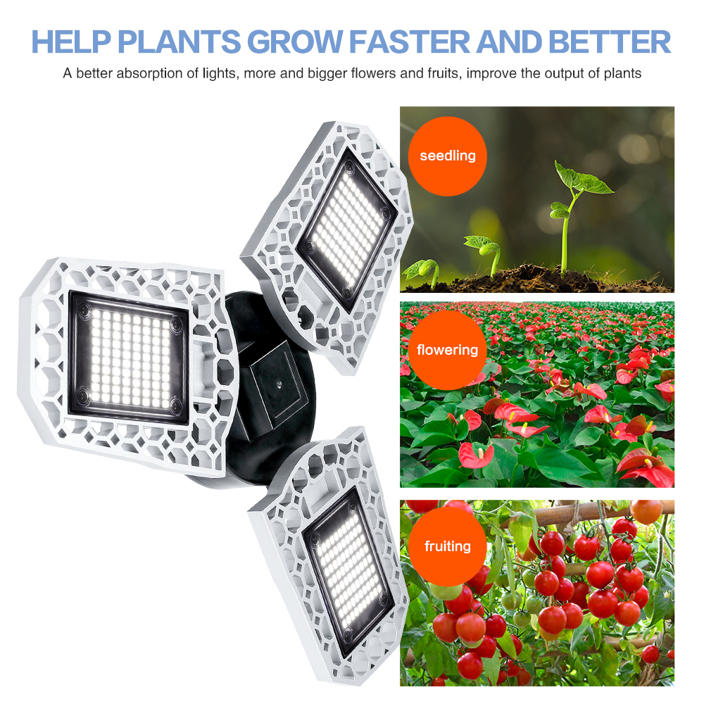 E27 LED Grow Lamp Full Spectrum Led Bulb 100W Phyto Lamp Grow Box Lighting Fitolampy 85-265V Plants Flowers Seedling Cultivation
