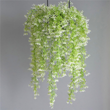 Artificial Green Plant Vines Wall Hanging Simulation Rattan Garden Living Room Club Bar Decorated Fake Leaves