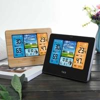 Wireless Weather Station LED Color Thermometer Hygrometer Clock Barometer Sensor Forecast Temperature Wall Desk Alarm Clock