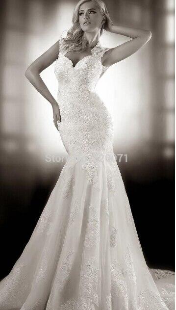 Casamento New Fashionable Cap Sleeve Vestido De Noiva Hot Sexy Backless Appliques Bridal Gown Wedding Dress 2016 Free Shipping