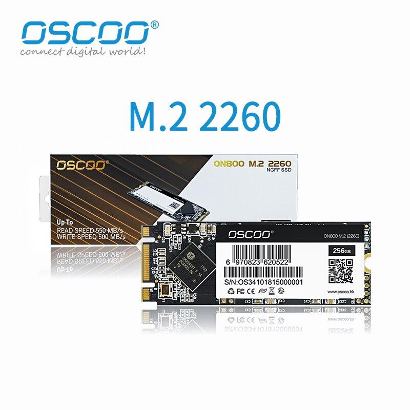 Твердотельный накопитель Oscoo MLC SSD 500 Гб M2 NGFF M.2 2260 SATA 120 ГБ 240 ГБ 512 ГБ, размер 2260 мм, внутренний жесткий диск для компьютера и ноутбука