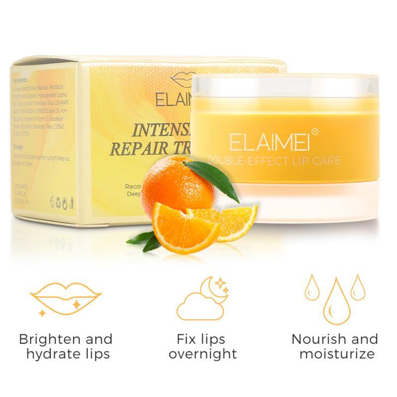 ALIVER Orange Geschmack Nähren Befeuchten Lip Pflege Erleichtern Falten Lip Balm Anti-Rissbildung Entfernen Abgestorbene Haut Lip Maske TSLM2