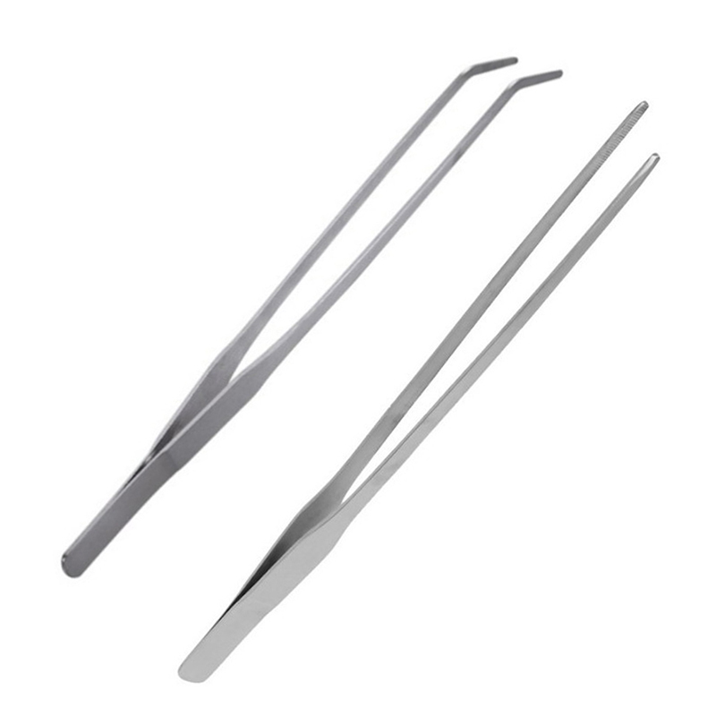 Stainless Steel Curved Aquarium Tweezers Aquarium Plant Shrimp Reef Tweezer Fish Tank Cleaner Aquarium Accessories Hot Sale