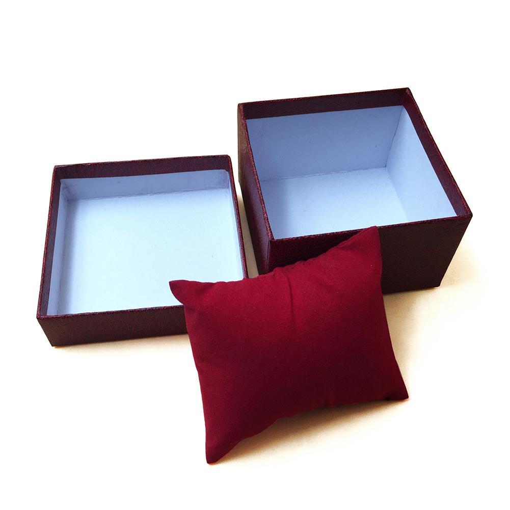 1pcs Watch Storage Case Faux Leather Watch Box Jewelry Wrist Watches Holder Display Storage Box Organizer Case Gift Box
