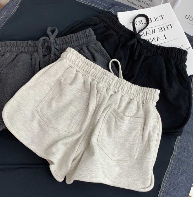 NEW Women Short Pant Casual Lady All match Loose Solid Soft Cotton Leisure Female Workout Waistband Skinny Stretch Shorts|Shorts| - AliExpress