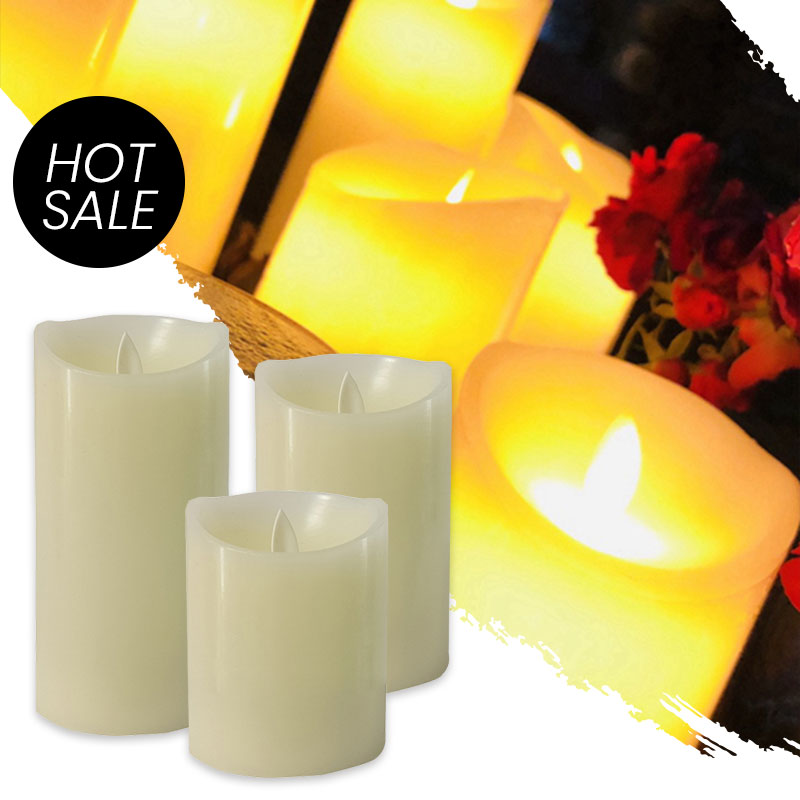 Flameless Led Fake Led Candle Light Decoration Lighting for Home Wedding Birthday Party Creative Lamp Battery Powered Candle