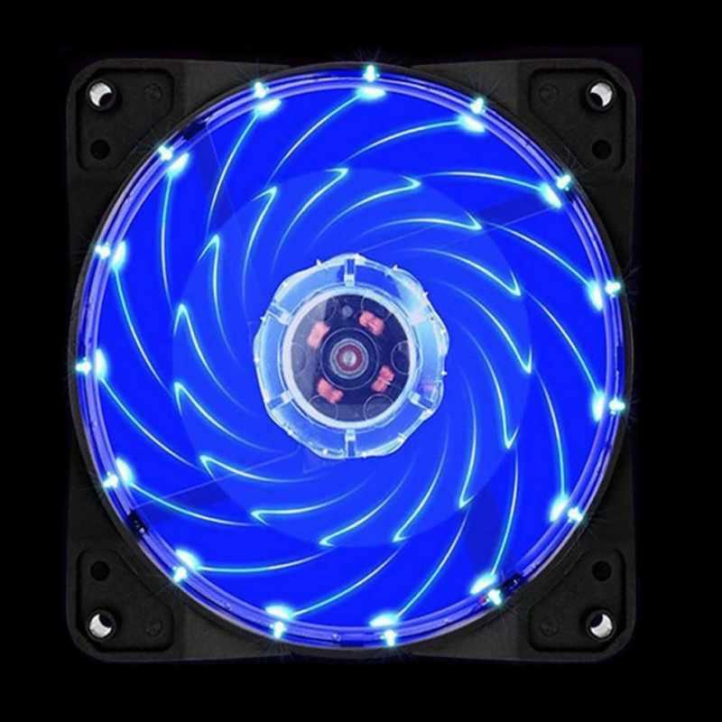 الكمبيوتر 120 مللي متر LED مروحة 120 مللي متر مروحة حلقة دليل ضوء الأزرق الأحمر الأخضر عالية الجودة الكمبيوتر تبريد مروحة برودة ل وحدة المعالجة المركزية مصباح ليد