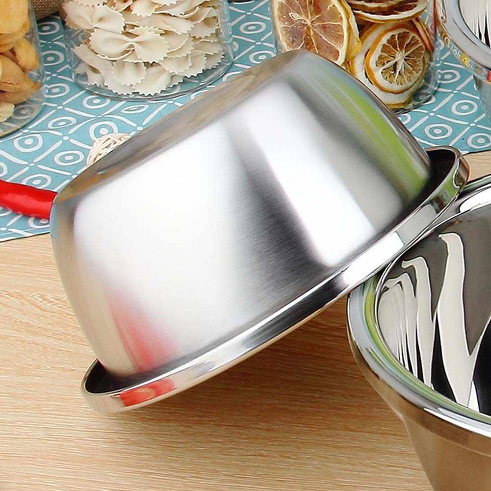 Verdikte Rvs Kom Warmte Isolatie Rijstkom Noedels Soepkom Groenten Voedsel Container Servies Keuken Benodigdheden