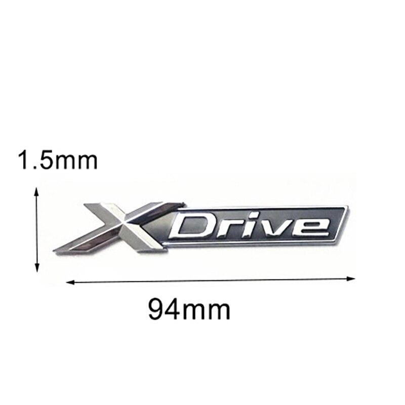 Chrome Letters Number Fender Emblem Badges Emblems for BMW XDrive 28i