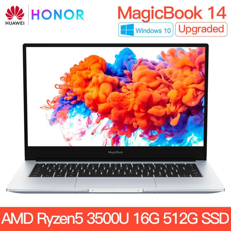 حاسوب محمول HUAWEI HONOR MagicBook 14 2020 حاسوب محمول 14 بوصة AMD Ryzen 5 3500U 8G 256/16G 512GB PCIE SSD FHD IPS ultrabook