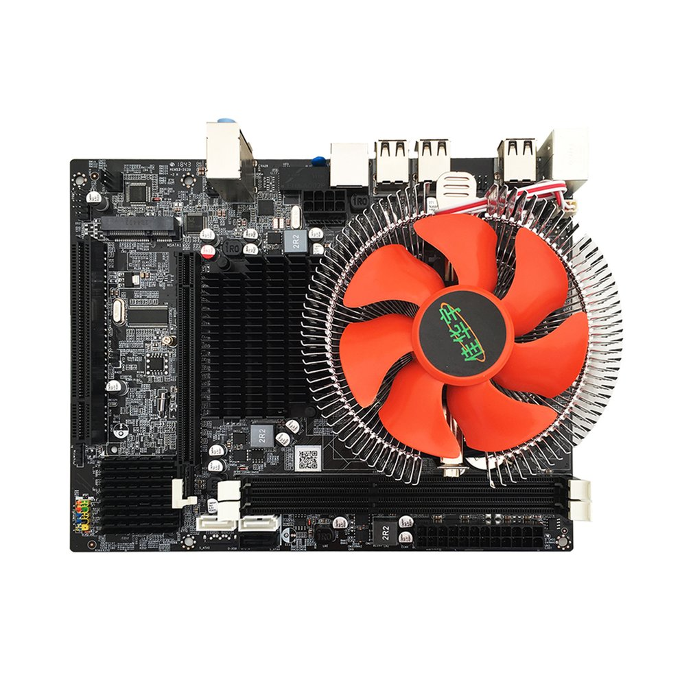 X58 Desktop PC Motherboard LGA 1366 E5645 6core 12Threads CPU + 8G Memory + Mute Fan Computer Main Board DDR3 RAM