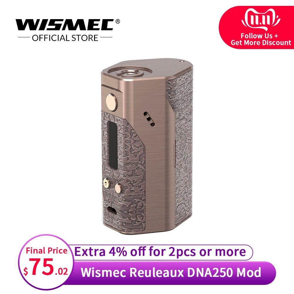 [Официальный магазин] Оригинальный Wismec Reuleaux DNA250 мод коробка контроля температуры мод электронная сигарета vape мод комплект