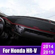 цена на For Honda HRV HR-V Vezel 2014 2015 2016 2017 2018 2019 Car Dashboard Cover Mats Avoid Light Pad Instrument Platform Desk Carpets