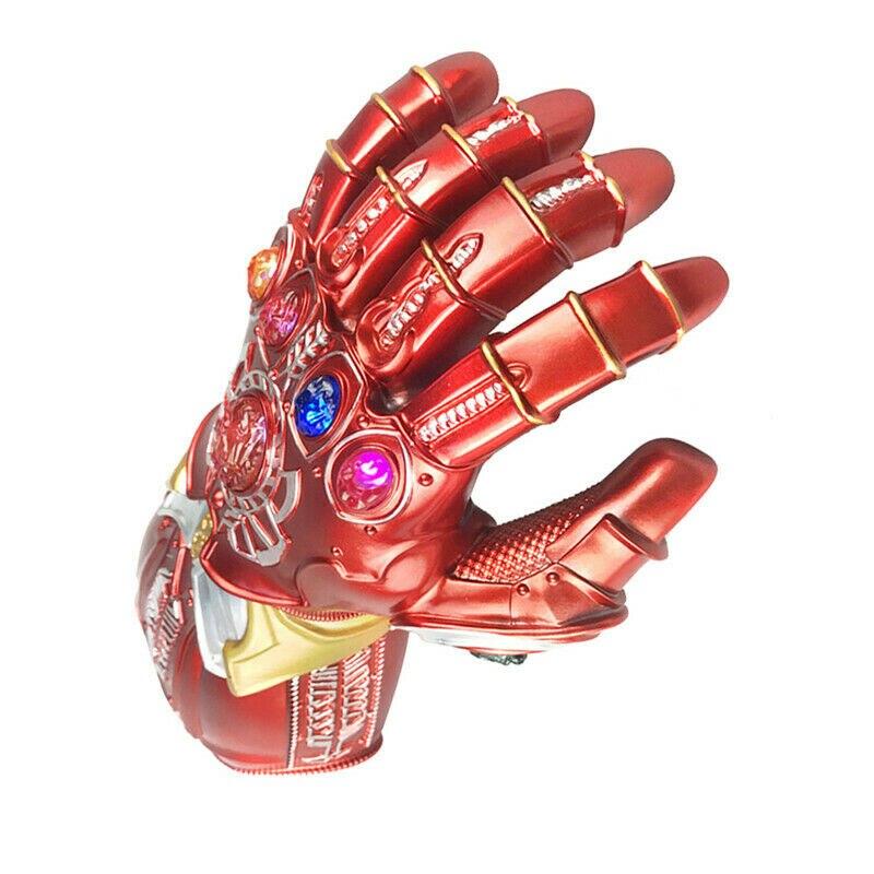Купить с кэшбэком Iron Man Tony Stark Gloves LED Light The Avengers Endgame Infinity Gauntlet Hand Cosplay Prop Costume Gift
