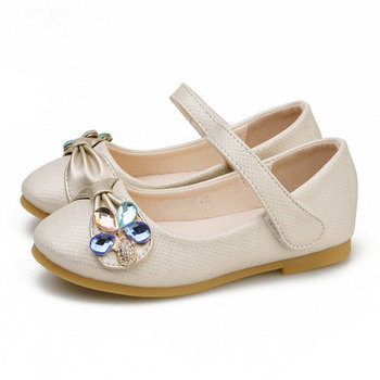 Spring Autumn Children Kids Girls Princess Shoes Leather Shoes Flat soft Girls Sandals Casual Shoes Dance Dress Party Wedding abckids new spring autumn girls soft leather shoes children girls princess bowknot sneakers single shoes kids dance shoes rubber