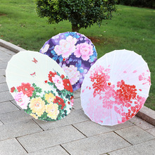 Vintage Chinese Printed Dance Craft Umbrella Theme Party Decorative Oiled Paper Parasol vintage chinese printed dance craft umbrella theme party decorative oiled paper parasol