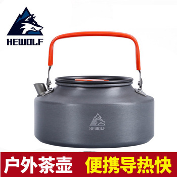 Male Wolf outdoor kettle outdoor tea pot camping tea portable teapot coffee pot cookers portable 0 8l outdoor hiking camping water kettles teapot coffee pot travel houseused hot water kettle