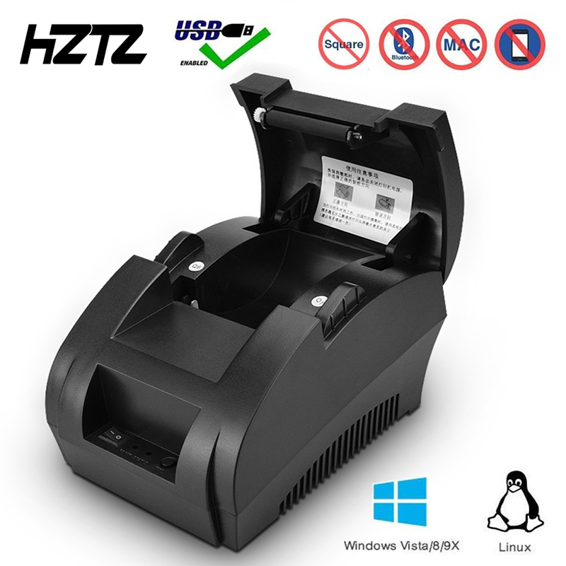 58mm Thermal Receipt Printer Bill Pos Printer With USB Port Support Windows Linux Support Cash Drawer
