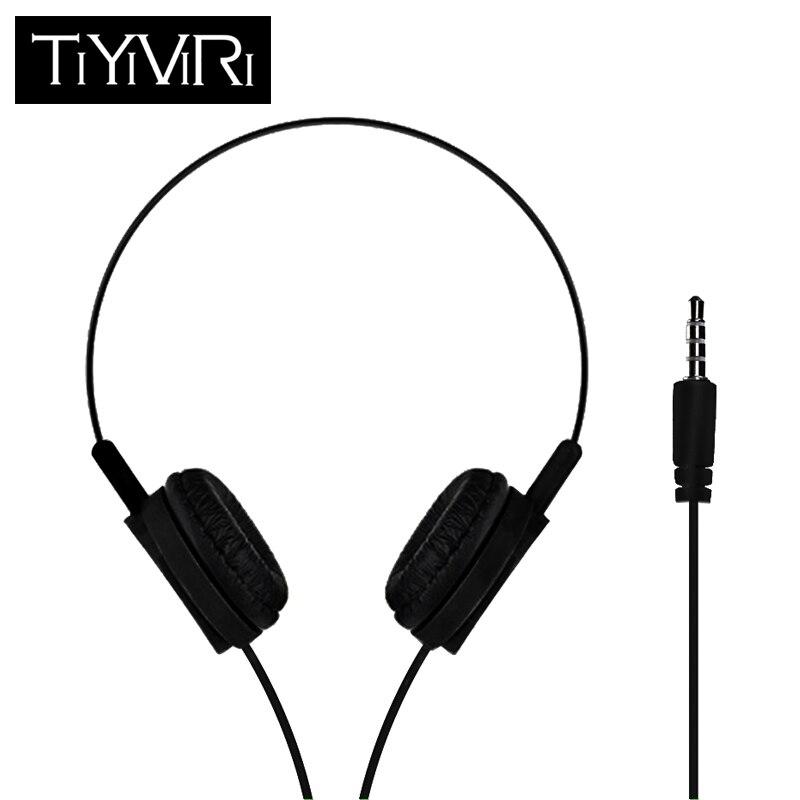 TiYiViRi 3.5mm Wired Gaming Headset Deep Bass Game Earphone Professional Computer Gamer Headphone For Computer For Phone