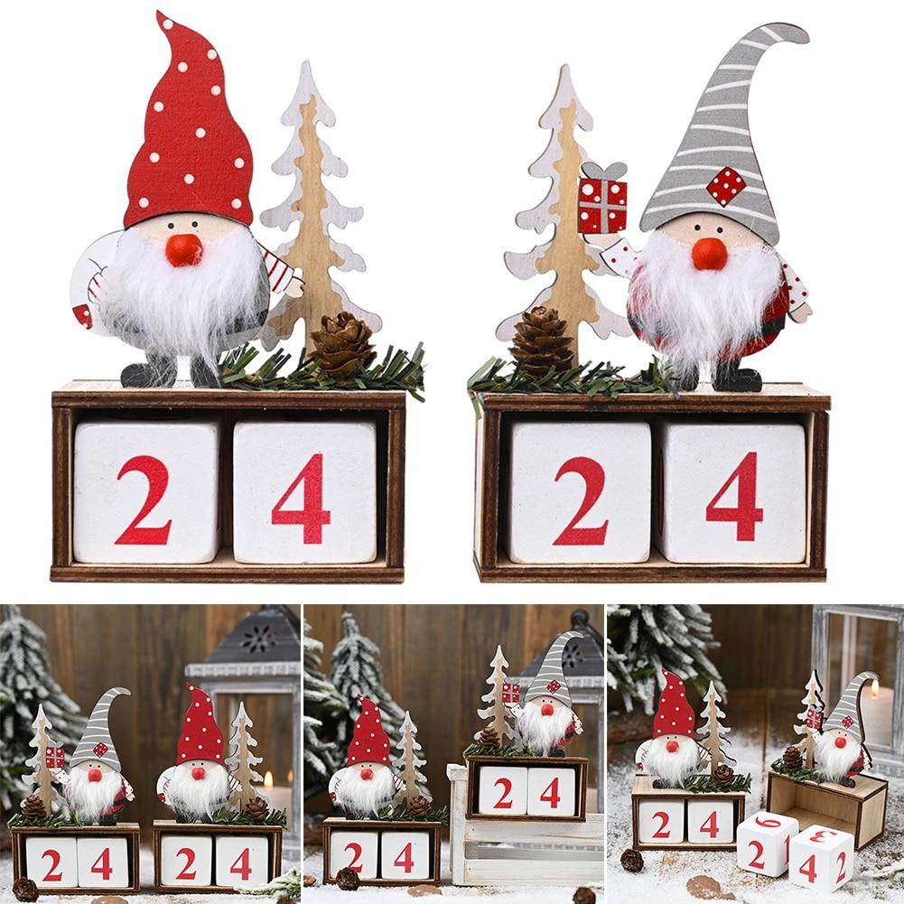 Natale 2021 Calendario.Di Legno Di Natale Avvento Calendario Buon Decorazioni Di Natale Per La Casa Noel Natale 2021 Regali Di Nuovo Anno Di Natale Babbo Natale Ornamento Ud88 Pendant Drop Ornaments Aliexpress