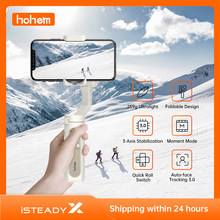 Hohem isconstante x 3 eixos cardan dobrável estabilizador 259g bolso leve cardan criativo vlog para iphone11 pro max/11/xs max