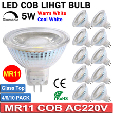 MR11 Led Bulbs 10PACK AC220V LED MR11 Light Bulb COB Bulb Full Glass Cover Reflector Warm White Cool White D40
