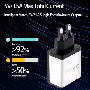 Image 5 - CinkeyPro 4 Ports USB Charger for Samsung iPhone Huawei Wall Mobile Phone 5V/3.5A Universal Adapter Fast Charging