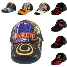 Naruto uzumaki uchiha sasuke cosplay impressão chapéus de sol boné de beisebol