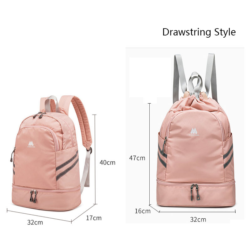 Image 5 - Women Gym Backpack Traveling Bag Fitness Bags for Shoes Training Dry And Wet Sack Gymtas Sac De Sport Mochila Swimming XA874WAGym Bags   -