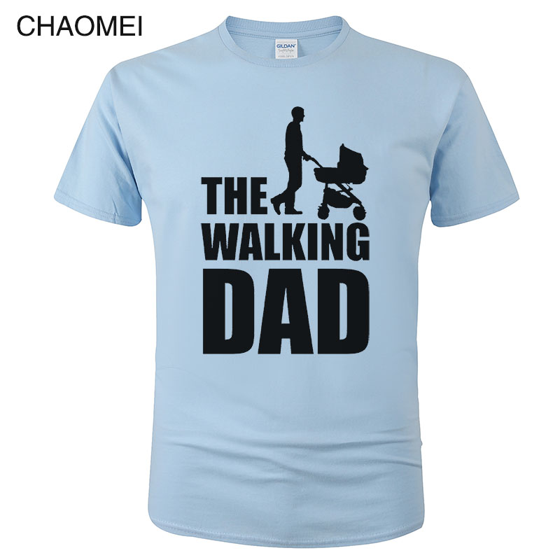 Streetwear Funny Print T-Shirt Men Clothing Hip Hop Homme T Shirt Tops Tees Dicky Ticker The Walking Dad Tshirt Dead C85