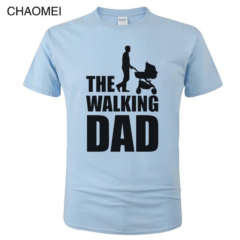Streetwear Funny Print T-Shirt Men Clothing Hip Hop Homme T Shirt Tops Tees Dicky Ticker The Walking Dad Tshirt Dead C85