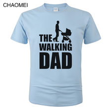 Engraçado Impressão T-Shirt Dos Homens de Roupas Streetwear Hip Hop Homme Camiseta Tops Tees Dicky Ticker O Pai Tshirt Morto Andando c85
