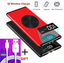 Qi Wireless  Power Bank Waterproof Portable 10000 MAh for All Smart Phone Battery Mini Powerbank Fast Charging External Battery