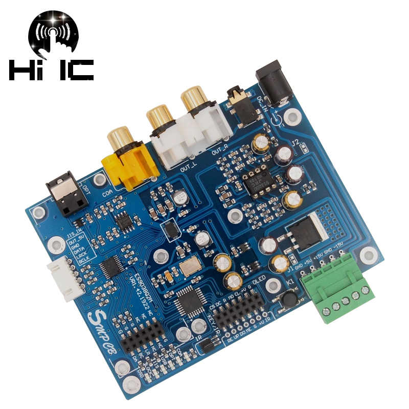 ES9038Q2M ES9038 Q2M I2S DSD Optische Koaxial IIS/DSD DOP 384KHz Eingang Decoder DAC Kopfhörer Ausgang Audio verstärker bord