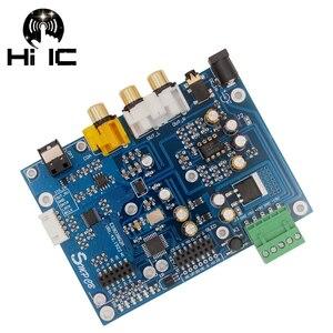 Image 1 - ES9038Q2M ES9038 Q2M I2S DSD optik koaksiyel IIS/DSD DOP % 384KHz giriş dekoder DAC kulaklık çıkışı ses amplifikatörü kurulu